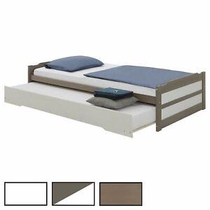 Tandembett Schubladenbett Gäste Einzel Bett Jugendbett Auszugsbett 190 x 90 cm