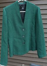 Women's Dark Green Blazer by Courtenay; Size:  6