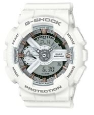 Casio G-Shock S Series * GMAS110CM-7A2 White Resin with Rose Gold Watch Women
