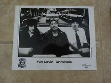Fun Lovin Criminals 8x10 B&W Publicity Picture Promo Photo