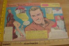 Jean Arthur Ginger Rogers Seein' Stars Feg Murray Sunday 1940s color panel 7e