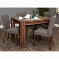 Contemporary Up to 4 Seats Table & Chair Sets with 4 Pieces