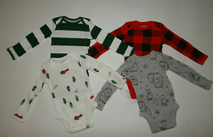 NWT, Baby boy clothes, 12 months, Carter's 4 bodysuits/   ~~SEE DETAILS ON SIZE~