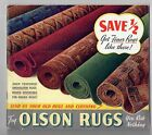 1939 Olson Rug Company Chicago San Francisco NY Beautiful Color Catalog, Inserts