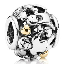 PANDORA Charm Element 791040 Family Familie Silber Gold Bead