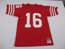Vtg Sand Knit Mens Erik Jensen Joe Montana? San Franisco 49ers NFL Jersey Small