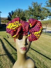 Red, Yellow and Black african print headwrap, Ankara Headwrap, Headtie, Headband