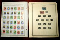 CatalinaStamps:  US Stamp Lot on H.E. Harris Pages, 1,265 Stamps, Lot R1