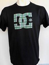 DC Shoes Drop Off Men's Black And Logo Green T-Shirt Size Medium