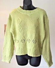 vintage 1980's ~ Dorothy Perkins cotton blend knitted green jumper ~ UK 10