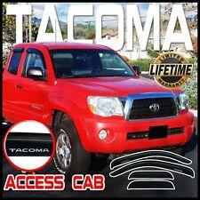 05-15 Tacoma Access Cab Window Door Sun Deflectors Rain Visors Vent Shade Visor