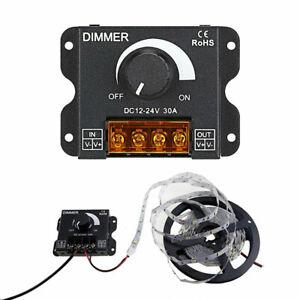 DC 12V/24V 30A Led Switch Dimmer Controller For Led Strip Single Color Black UK