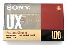 SONY UX 100 CHROME HIGH BIAS TYPE II BLANK AUDIO CASSETTE TAPE - JAPAN 1990