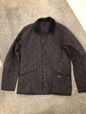 Navy Barbour Heritage Liddesdale Quilted Jacket Medium Used