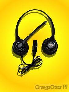 Plantronics HW261N SupraPlus Wideband Headset use w M22 M12 & VOiP Voice Over IP
