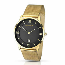 Sekonda Men's Gold Plated Strap Polished Wristwatches