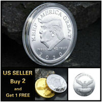 Donald Trump 2020 Keep America Great Commemorative Coin Style A - Silver