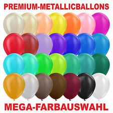 Premium Luftballons Metallic Bio Ø 33 cm GROSSE FARBAUSWAHL Stückzahlwahl Helium