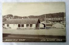 POSTCARD ELEVEN MILE COURT MOTEL LAKE GEORGE COLORADO #W7