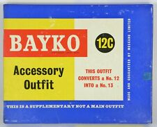 BAYKO SET 12C BUILDING CONSTRUCTION; BRICKS IN CELLOPHANE MAINLY Nr MINT EX SHOP