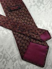 CHARVET Silk Tie ~ $245 Brown Black Abstract Jacquard Pattern FRANCE 930