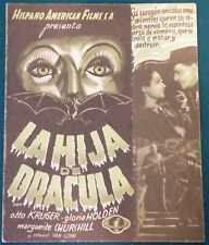 Dracula's Daughter (1936) Otto Kruger Original  Movie Poster Spanish Herald