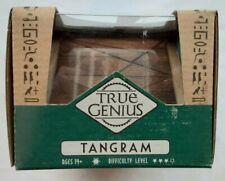 True Genius Brain Game Puzzle Toy - Tangram - Natural Wood Look