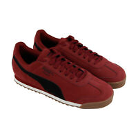 Puma Roma Smooth Nubuck 36845503 Mens Red Classic Lace Up Low Top Sneakers Shoes
