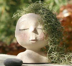 Girl Face Head Planter Garden Plant Pot Succulent Flowerpot Home Decor Gifts