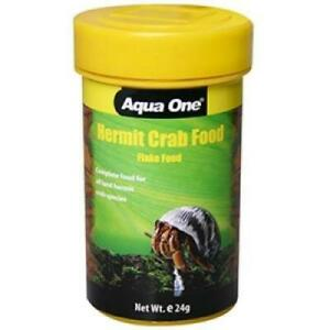 Aqua One Hermit Crazy Crab Food 24g Quality Nutrition for crabs