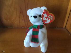 """TY Baby Beanies Alpine, the Polar Bear , 4"""" ornament"""