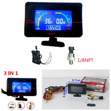 Multifunctional Car LCD 3 In 1 Water Temperature/Oil Pressure/voltage Gauges Kit