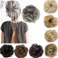 2018 New Synthetic Curly Hair Extensions Hairpiece Bun Updo Scrunchie Pony Tail