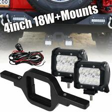 2X 18W LED Backup Reverse Light+Tow Hitch Mount Bracket For Jeep Ford SUV Truck