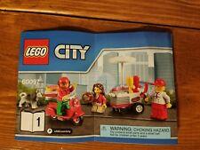 LEGO PIZZA DELIVERY SCOOTER, HOT DOG VENDOR, GIRL, DOG *Bag 1* 60097 City Square