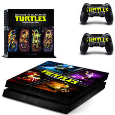 TMNT New Sony PlayStation 4 PS4 Console 2 Controllers Vinyl Skin Sticker Decal