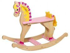 Schaukelpferd Prinzessin, goki 53936, Holzspielzeug, Schaukeltier