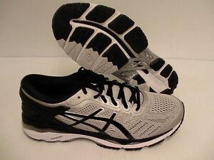Asics men's gel kayano 24 running shoes silver black mid grey size 11 us