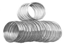 Cadmium Safe Silver Steel 55mm Memory Beading Wire Bracelet Jewelry Q200 Loops