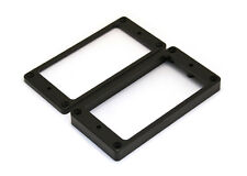 Humbucker Guitar Pickup Mounting Rings • Flat • Black