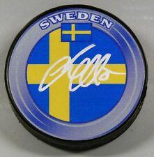 JACOB MARKSTROM Signed SWEDEN FLAG HOCKEY PUCK 1007065