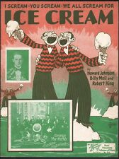 I Scream You Scream We All Scream For Ice Cream 1927 Irving Aaronson Sheet Music