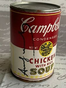 ANDY WARHOL -  Campbell's Soup Can ! CHICKEN WITH RICE !!