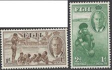 Fiji 1951 Health (2) Swimming, Football Unhinged Mint SG 276-7