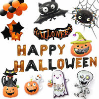 Pumpkin Ghost Balloons Spider Foil Balloons Bat Globos Halloween Party Supplies