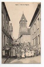 OGER Marne CPA 51 la rue de l'église trés animée Enfants