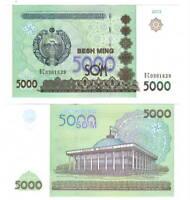 UZBEKISTAN 5000 Som (2013) P-83 Banknote Paper Money