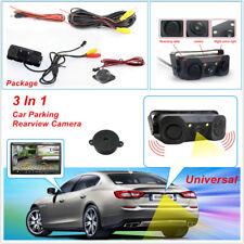 Universal 3in1 Car SUV Parking Reversing Radar Rear View Backup 170° Camera Kit