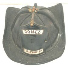 Vintage Cairns  New Yorker Style Leather Fire Helmet Gomez # 1