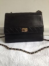 Chanel vintage black cross body bag.